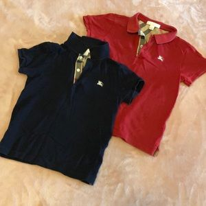 Two Burberry polos for boys